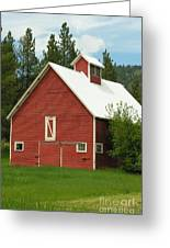 Red Barn Montana Greeting Card