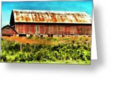 Red Barn No.1 Greeting Card