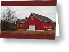Red Barn On A Grey Day Greeting Card