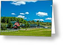 Red Barn On Hoyt Road Greeting Card