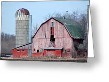 Red Barn On Texas Avenue Greeting Card