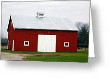 Red Barn- Photography By Linda Woods Greeting Card