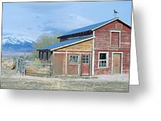 Red Barn, Route 50, Nevada Greeting Card