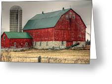 Red Barn11 Greeting Card