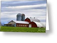 Red Barns Of 3 Greeting Card