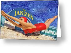 Red Bathing Suit Greeting Card