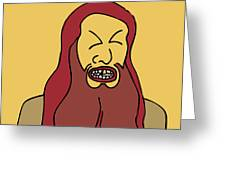 Red Bearded Man Greeting Card