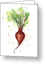 Red Beet Watercolor Greeting Card
