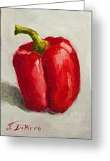 Red Bell Pepper Greeting Card