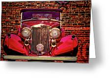 Red Bentley Convertible Greeting Card