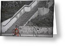 Red Bicycle Greeting Card by Kevin Bergen