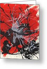 Red Black White Greeting Card