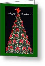 Red Bow Tree Greeting Card