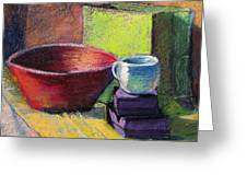 Red Bowl Greeting Card