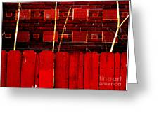 Red Brick And Sticks Greeting Card