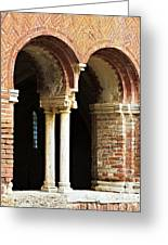Red Brick Arches Regular Greeting Card