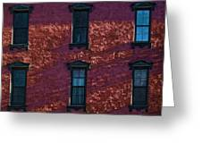 Red Brick Building Nyc Greeting Card