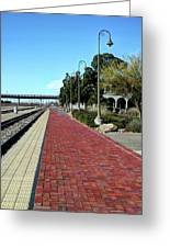 Red Brick Walkway Greeting Card