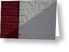 Red Brick White Brick Greeting Card by Robert Ullmann