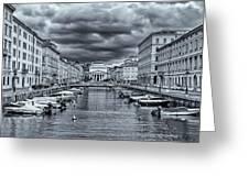 Red Bridge Canal Greeting Card
