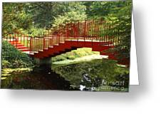Red Bridge  Greeting Card