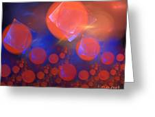 Red Bubble Suns Greeting Card