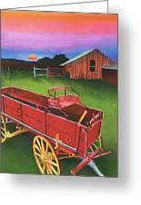 Red Buckboard Wagon Greeting Card