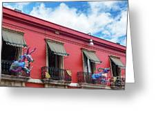 Red Building And Alebrije Greeting Card