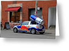 Red Bull Car Greeting Card