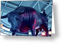 Red Bulls Greeting Card