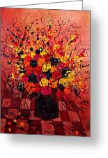 Red Bunch Greeting Card