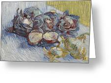 Red Cabbages And Onions Paris, October - November 1887 Vincent Van Gogh 1853  1890 Greeting Card