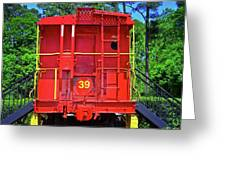 Red Caboose Greeting Card