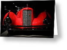 Red Cadillac Greeting Card by Transportation Photographs