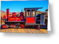 Red Calico Odessa Rr Greeting Card