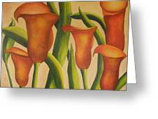 Red Callas Greeting Card