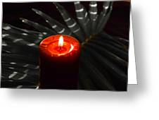 Red Candle Greeting Card