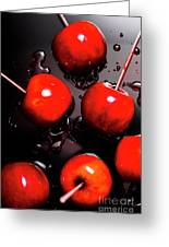 Red Candy Apples Or Apple Taffy Greeting Card