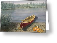 Red Canoe 3  Greeting Card