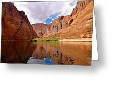 Red Canyon Reflections Greeting Card