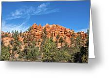 Red Canyon Tableau Greeting Card