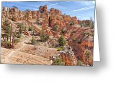 Red Canyon Trail Greeting Card