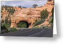 Red Canyon Tunnel Greeting Card