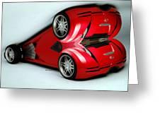 Red Car 007 Greeting Card