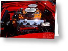 Red Car Engine  Greeting Card
