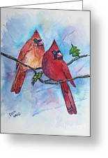 Red Cardinals Greeting Card