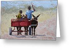 Red Cart Greeting Card