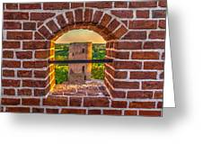 Red Castle Window View Greeting Card by