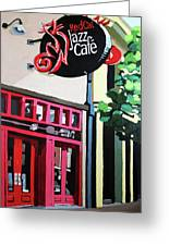 Red Cat Jazz Cafe Greeting Card