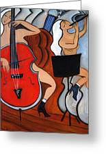 Red Cello 2 Greeting Card